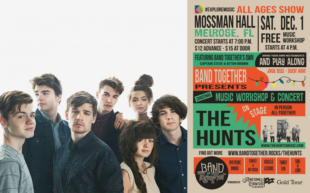Christmas Music Workshop and Live Concert with the Hunts!
